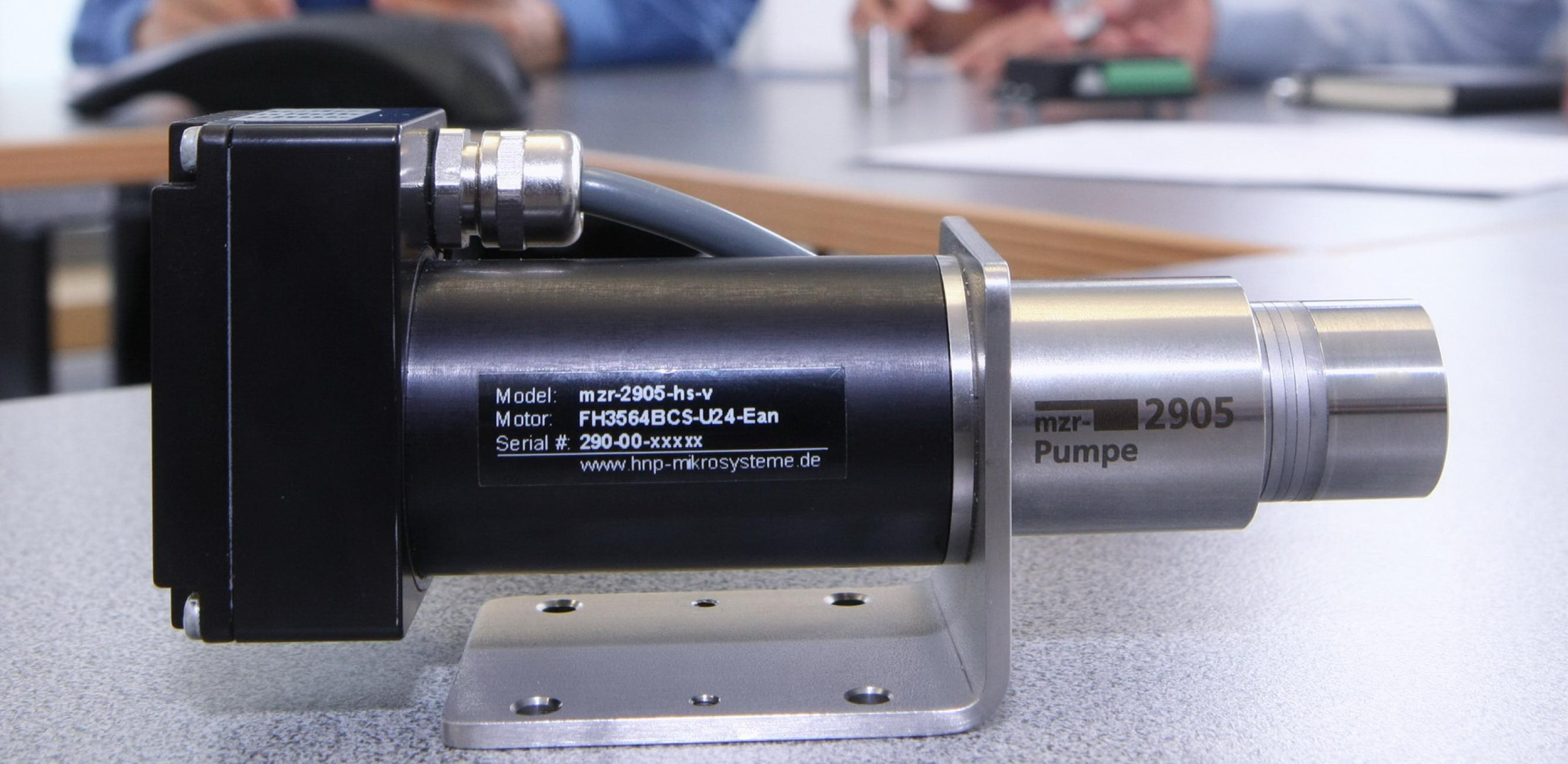 Product inquiry mzr-pump HNP Mikrosysteme